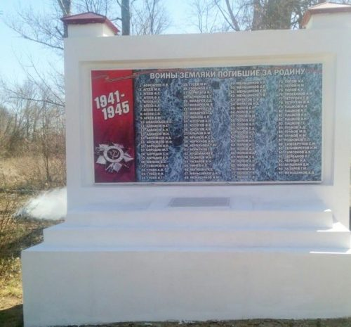 д. Круглики Ефремовского городского округа. Памятник, погибшим односельчанам.