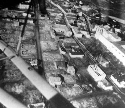 Уничтоженный еврейский квартал (штейл). 1942 г.