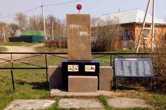 д. Кукуй Ефремовского городского округа. Памятник, погибшим односельчанам.