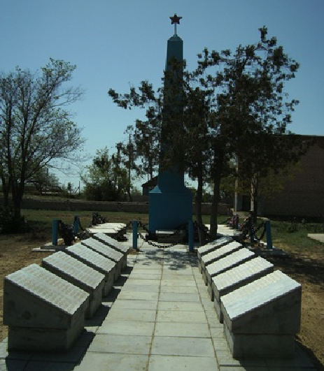 с. Болхуны Ахтубинского р-на. Обелиск, установленный в 1959 году в честь земляков погибших в годы войны.