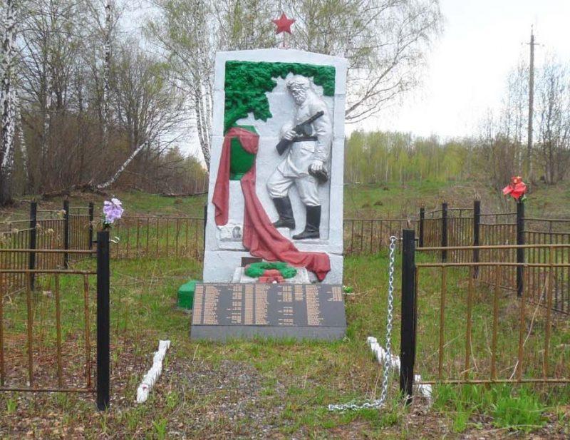ур. Мощенное Арсеньевского р-на. Памятник, установленный на братской могиле, в которой похоронено 302 советских воина, в т.ч. 232 неизвестных.