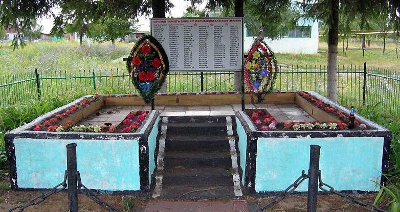 д. Кожинка Чернского р-на. Памятник, установленный на братской могиле, в которой похоронено 103 советских воина.