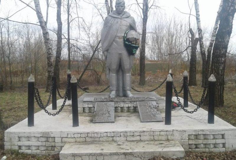 п. Октябрьский Арсеньевского р-на. Памятник, установленный на братской могиле, в которой похоронены советские воины.