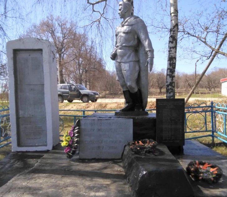 с. Луговка Ефремовского городского округа. Памятник, установленный на братской могиле советских воинов, погибших в годы войны.