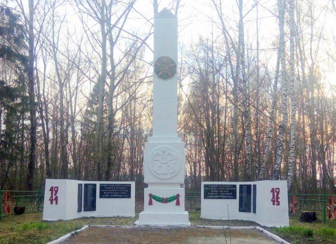 д. Медведки Ефремовского городского округа. Памятник, установленный на братской могиле советских воинов, погибших в годы войны.