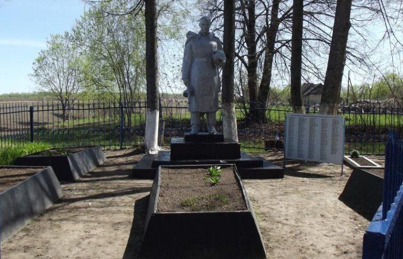 д. Ползиково Чернского р-на. Памятник, установленный на братской могиле, в которой похоронены советские воины.