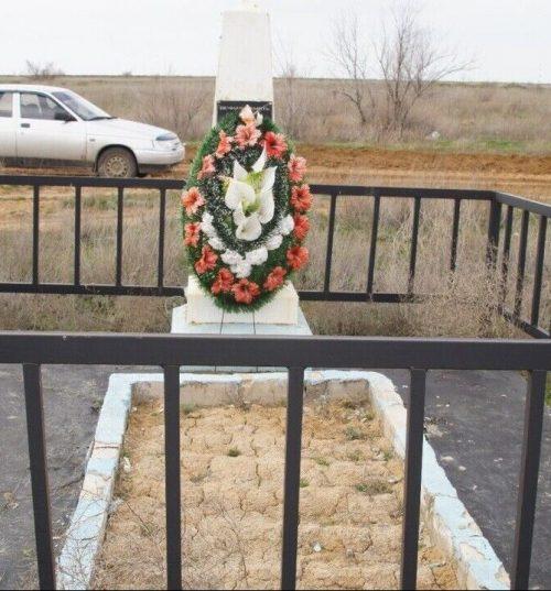 ст. Пологое Займище Ахтубинского р-на. Братская могила воинов, погибших в годы войны.