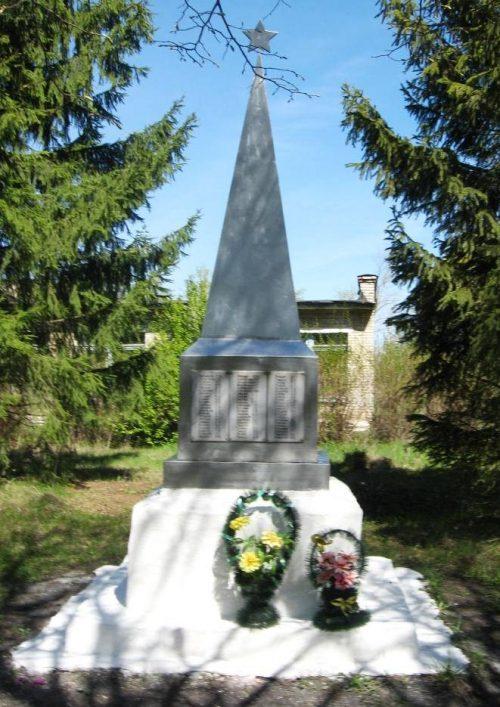 д. Соловьевка, Чернского р-на. Обелиск, установленный в 1966 году на братской могиле, в которой похоронены советские воины.