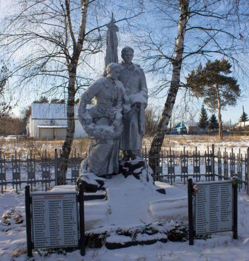 с. Троицкое Чернского р-на. Памятник, установленный на братской могиле, в которой похоронены советские воины.