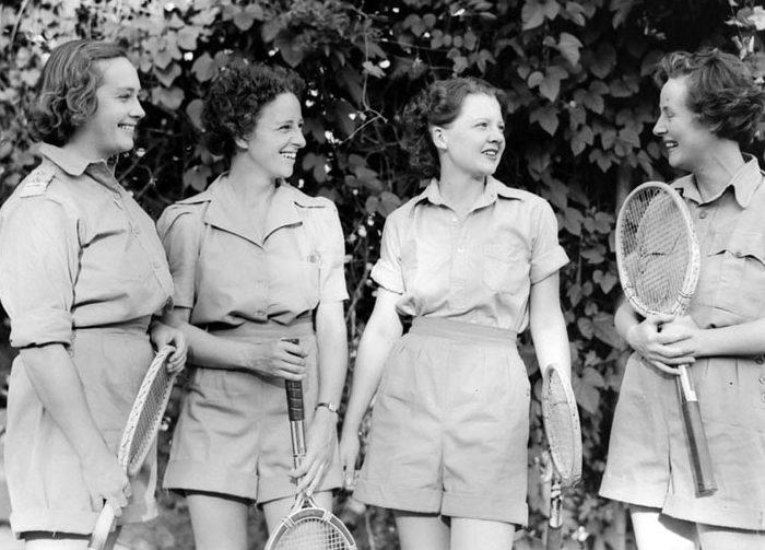 Курсантки школы AWAS. Март 1944 г.