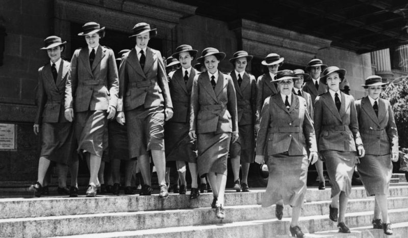 Медсестры AAMWS в Брисбене. 1940 г.