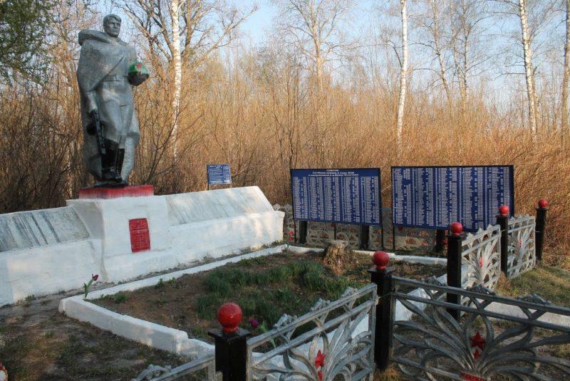 д. Велична Белевского р-на. Памятник, установленный на братской могиле, в которой похоронены советские воины.