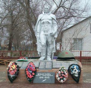 с. Тузуклей Камызякского р-на. Памятник в парке Победы, установленный в 1975 году в честь погибших земляков.