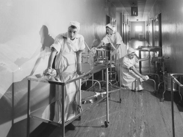 Служащие AAMWS в госпитале. Конкорд, Новый Южный Уэльс. 1944 г.