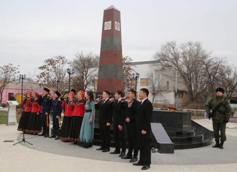 с. Красный Яр. Памятник воинам-пограничникам, открытый в 2018 году.