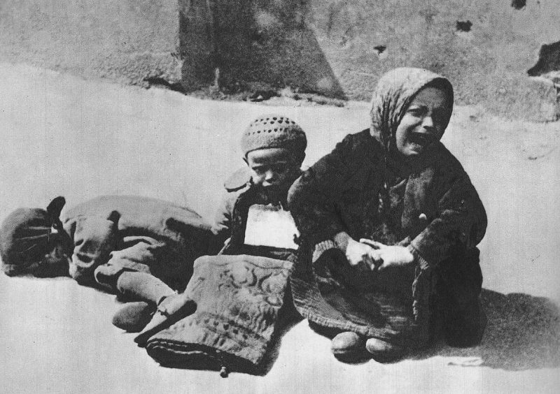 Беспризорные дети в гетто. Июнь 1941 г.