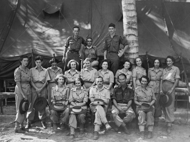 Сотрудники станции переливания крови. Моротай, апрель 1945 г.