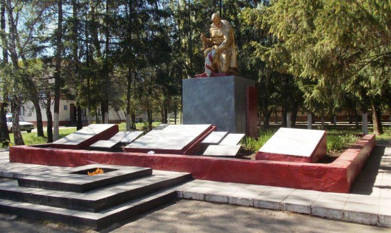 с. Архангельское Каменского р-на. Мемориал по улице Тимомирова «Братская могила», установленный на братской могиле, в которой похоронены советские воины, погибшие в годы войны.