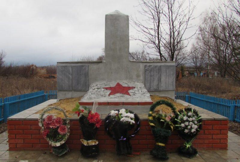 д. Долгие Лески Каменского р-на. Обелиск односельчанам, погибшим в годы войны.