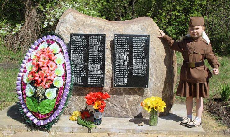 д. Епанчино Каменского р-на. Памятник односельчанам, погибшим в годы войны.