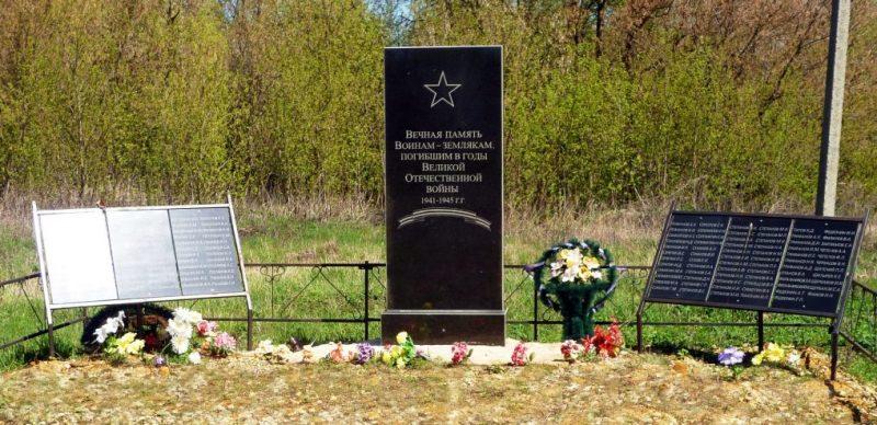 с. Соклаково Каменского р-на. Памятник, установленный в 2013 году на братской могиле, в которой похоронены советские воины, погибшие в годы войны.