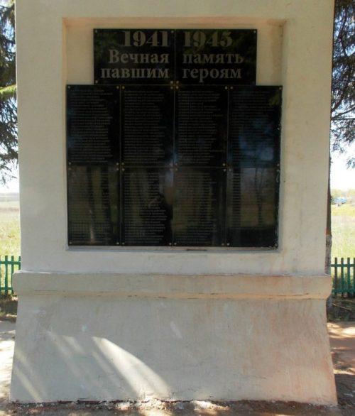 д. Языково Каменского р-на. Памятник, установленный на братской могиле, в которой похоронены советские воины, погибшие в годы войны.
