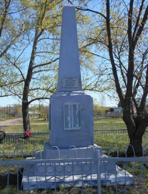 д. Апарки Кимовского р-на. Памятник, установленный на братской могиле, в которой похоронены советские воины, погибшие в годы войны.
