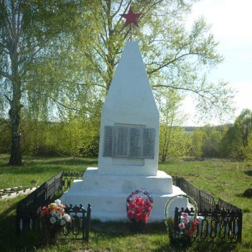 д. Барановка Кимовского р-на. Памятник, установленный на братской могиле, в которой похоронены советские воины, погибшие в годы войны.