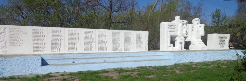 д. Ивановка Кимовского р-на. Памятник, установленный на братской могиле, в которой похоронены советские воины, погибшие в годы войны.