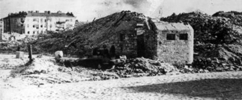 Руины Варшавского гетто. 1944 г.