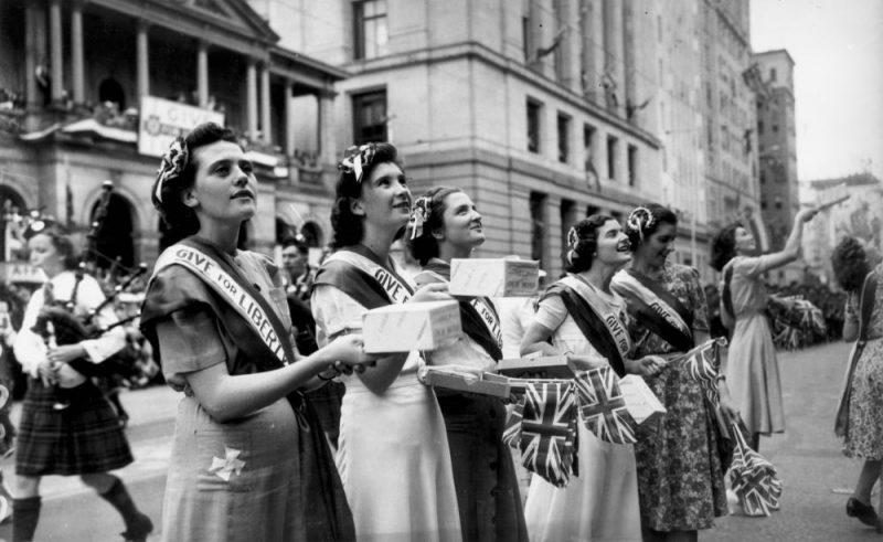 Сбор средств во время войны. Брисбен, 1943 г.