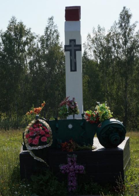 д. Павловское Ясногорского р-на. Памятник на месте сражения 30 ноября 1941 года, установленный в 2012 году.