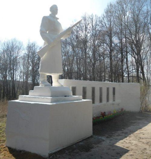 с. Теляково Ясногорского р-на. Памятник погибшим односельчанам, установленный 1987 году.