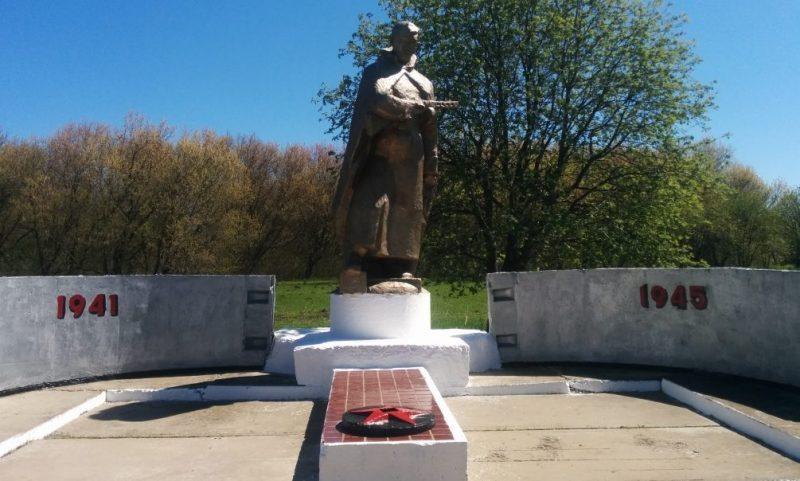 с. Никитское Воловского р-на. Памятник, установленный на братской могиле, в которой похоронены советские воины, погибшие в годы войны.