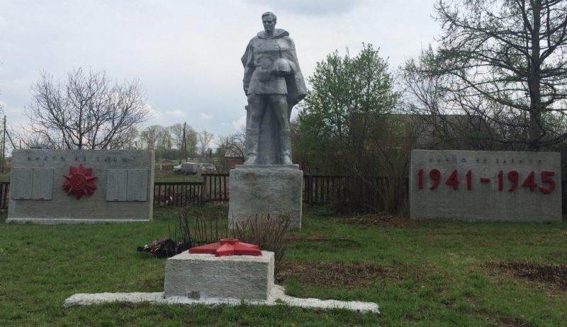 д. Панарино Воловского р-на. Памятник, установленный на братской могиле, в которой похоронены советские воины, погибшие в годы войны.