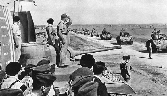 Карпатская стрелковая бригада в Северной Африке.