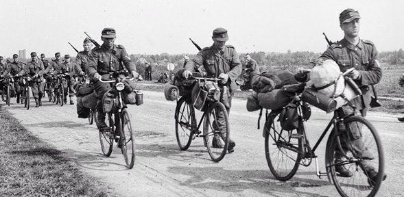 Велосипедные войска Вермахта.