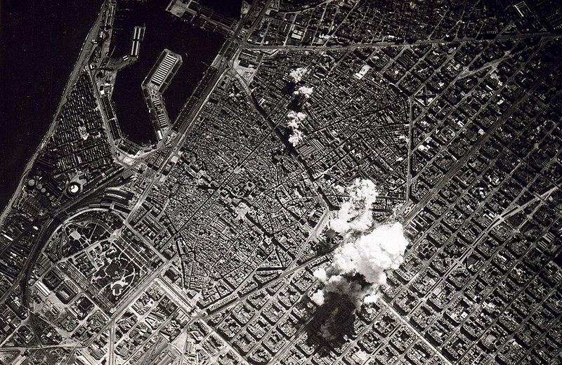 Бомбардировка Барселоны. 1938 г.