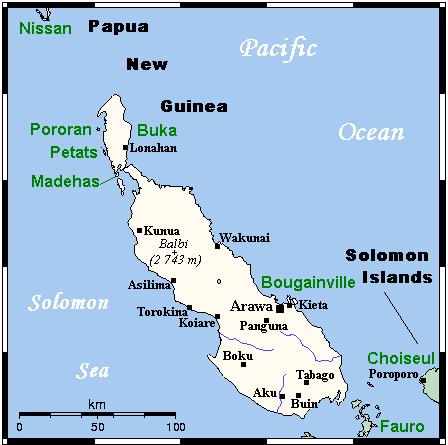 Острова Бугенвиль и Бука.