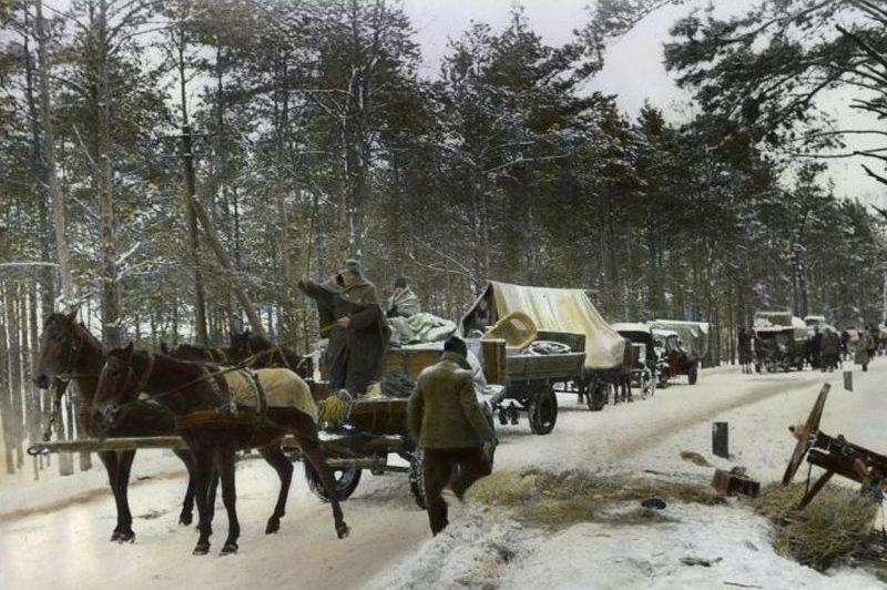 Эвакуация гражданского населения из Бреслау.