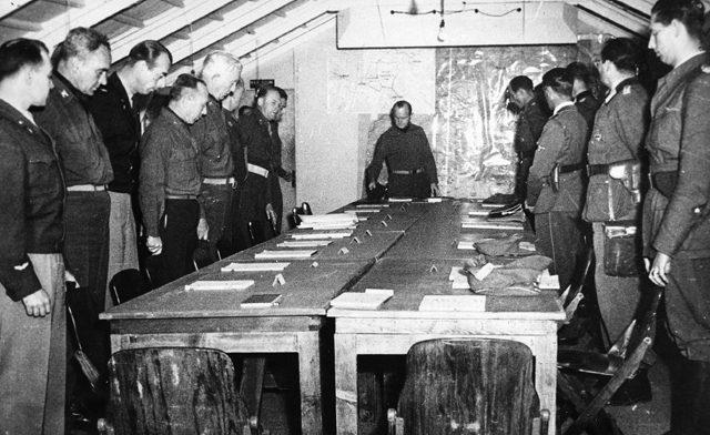 Процедура капитуляции группы армий «С».