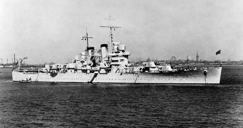 Американский легкий крейсер «Helena», погибший в бою.