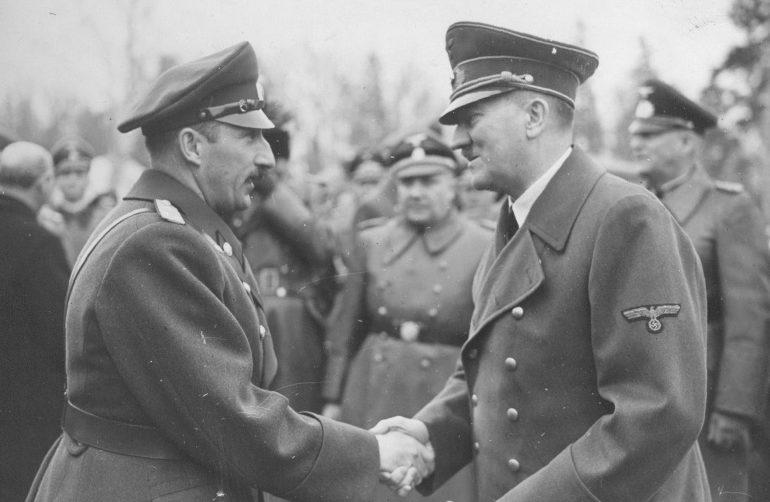 Царь Борис III и Адольф Гитлер. 19 апреля 1941 г.