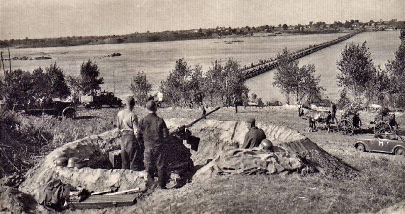 Позиции немецких зенитных орудий.