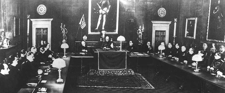 Заседание Большого фашистского совета.