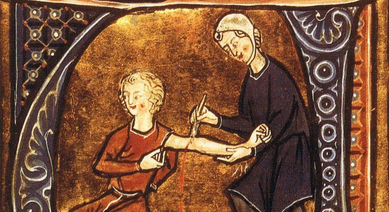 Передовой метод лечения сифилиса – кровопускание.