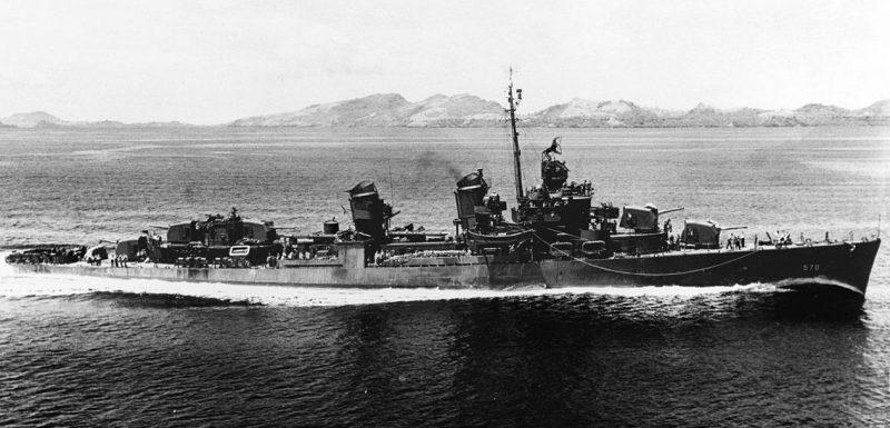 Эсминец «Чарльз Осборн» в районе Соломоновых островов.