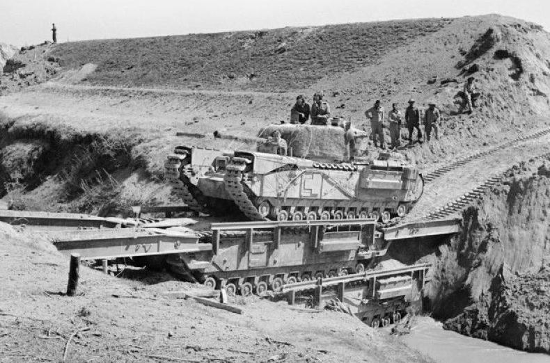 Наступление британской армии.