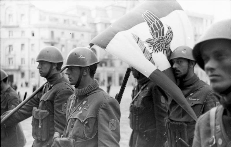 Солдаты Национальной республиканской армии Республики САЛО.