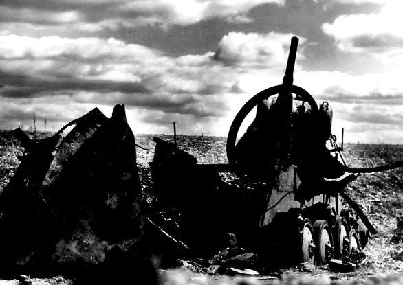 Подбитый в боях на Миусе танк Т-70.